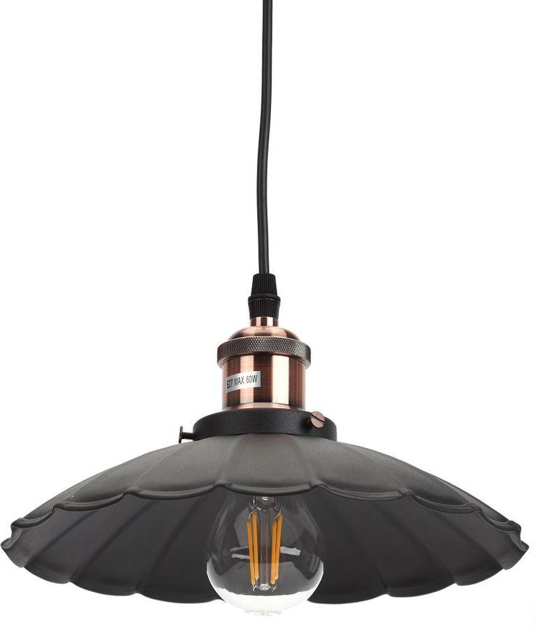 Светильник ЭРА PL3 навесной,  60Вт,  шагрень черный [б0037435]