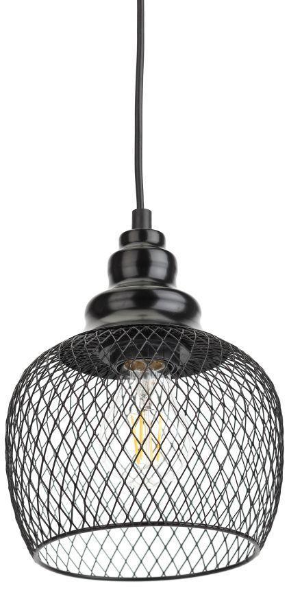 Светильник ЭРА PL8 BK навесной,  60Вт,  черный [б0037455]