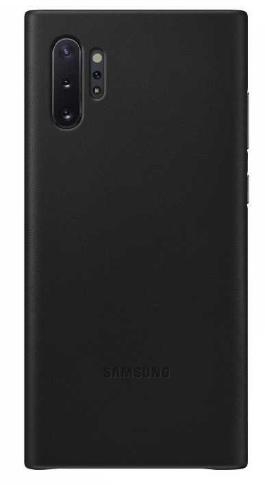 Чехол (клип-кейс) SAMSUNG Leather Cover, для Samsung Galaxy Note 10+, черный [ef-vn975lbegru]