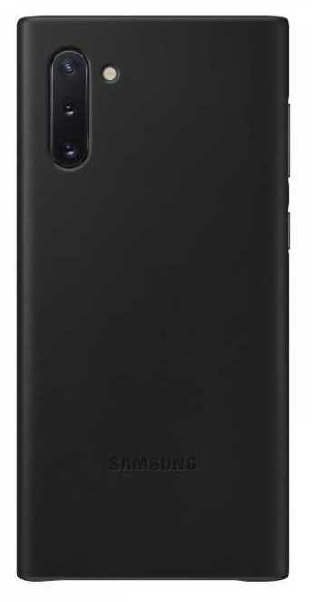 Чехол (клип-кейс) SAMSUNG Leather Cover, для Samsung Galaxy Note 10, черный [ef-vn970lbegru]