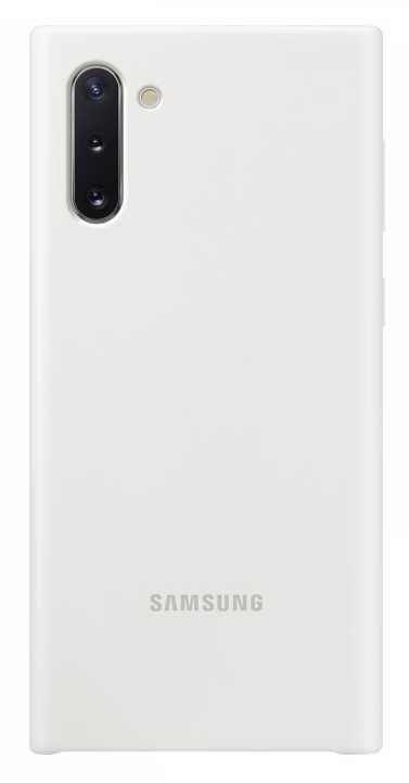 Чехол (клип-кейс) SAMSUNG Silicone Cover, для Samsung Galaxy Note 10, белый [ef-pn970twegru]