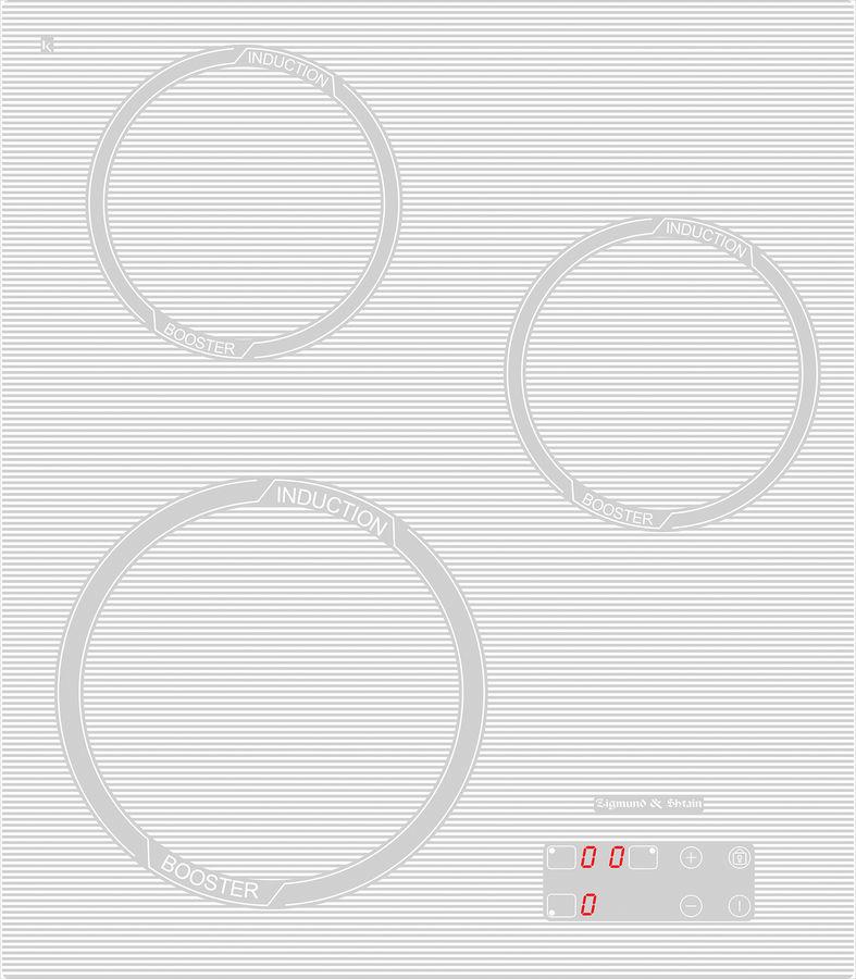 Варочная панель ZIGMUND & SHTAIN CIS 029.45,  индукционная,  независимая,  белый