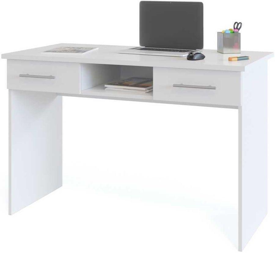 Стол компьютерный  СОКОЛ КСТ-107.1,  ЛДСП,  белый