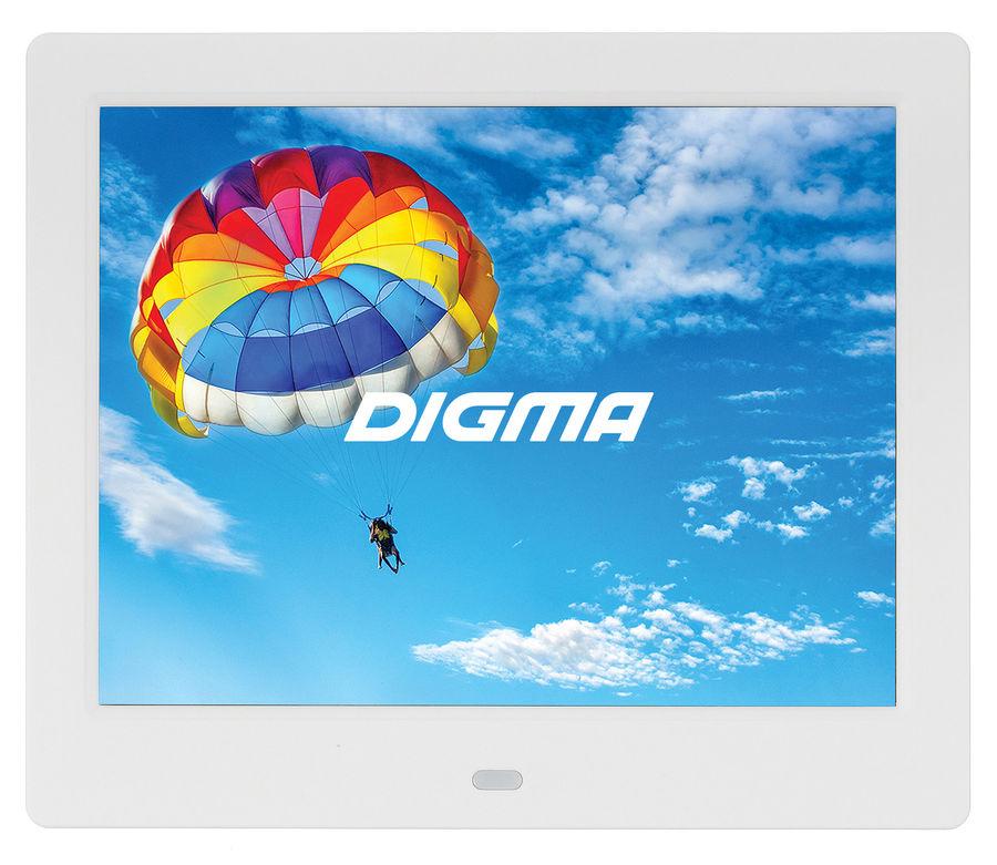 "Цифровая фоторамка DIGMA PF-843 IPS,  8"", белый [pf843w]"