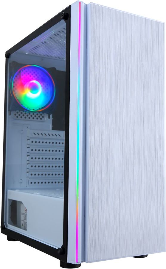 Корпус ATX FORMULA CL-3302W RGB, Midi-Tower, без БП,  белый