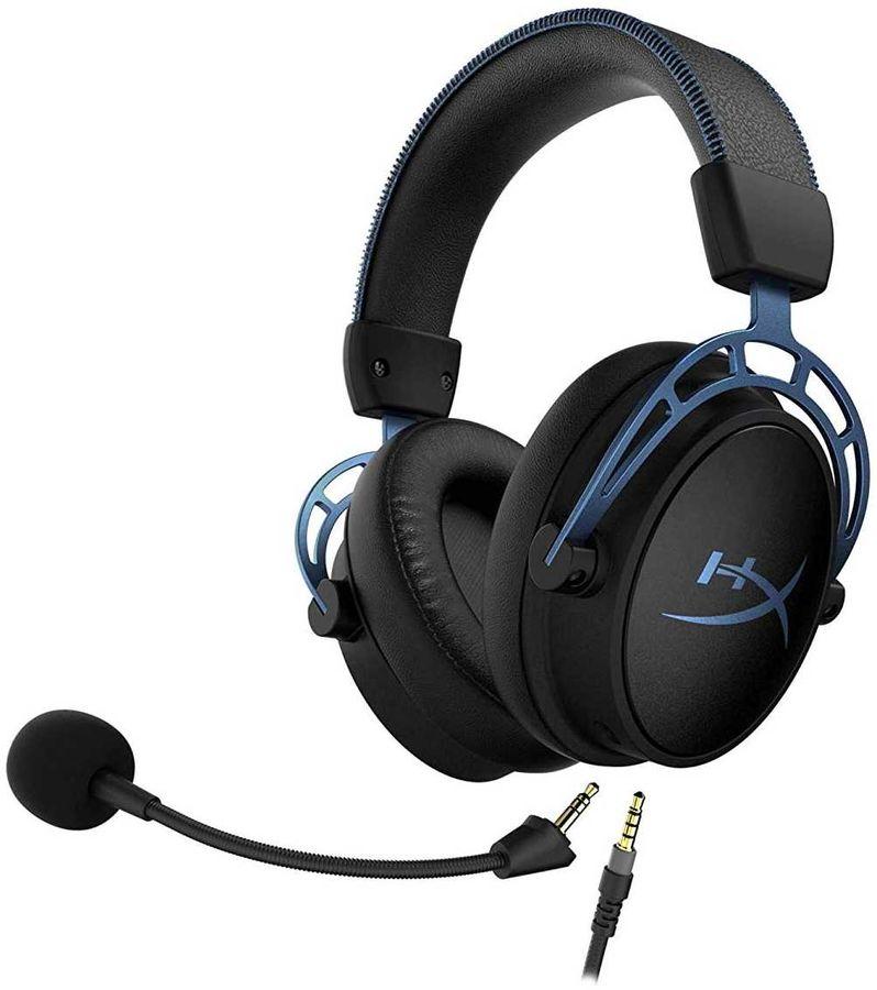 Беспроводная игровая гарнитура HYPERX Cloud Alpha S - cъемный микрофон с шумоподавлением и кабель