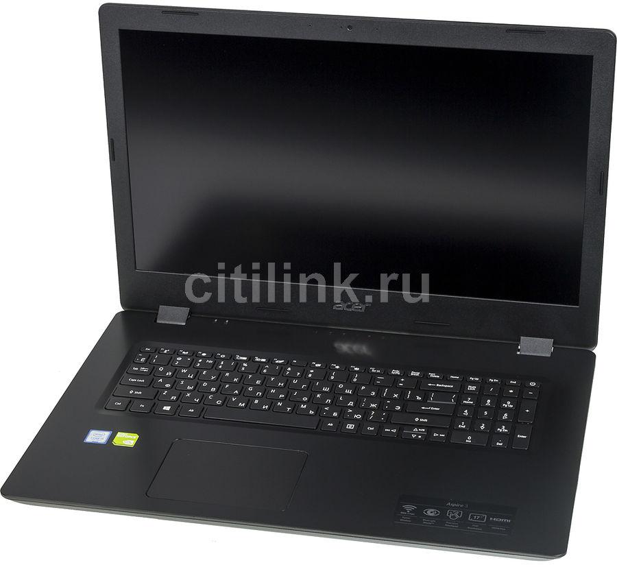 """Ноутбук ACER Aspire A317-51KG-34BC, 17.3"""",  IPS, Intel  Core i3  7020U 2.3ГГц, 8Гб, 256Гб SSD,  nVidia GeForce  Mx130 - 2048 Мб, Windows 10, NX.HELER.00A,  черный"""