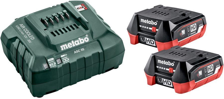 Батарея аккумуляторная Metabo Basic-Set 12V 2акк x 4.0 Aч+ SC30 12В 4Ач Li-Ion (З/У в компл.) (68530