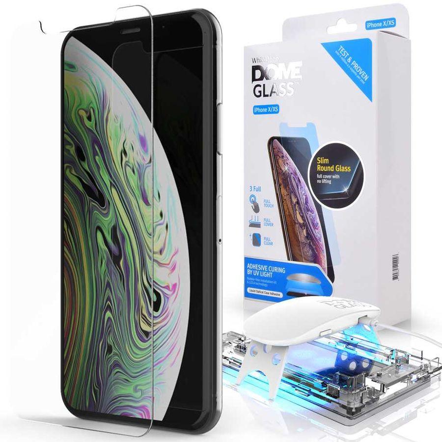 Защитное стекло для экрана  Whitestone Dome  для Apple iPhone XS,  антиблик, 70 х 143 мм, 3D, 1 шт