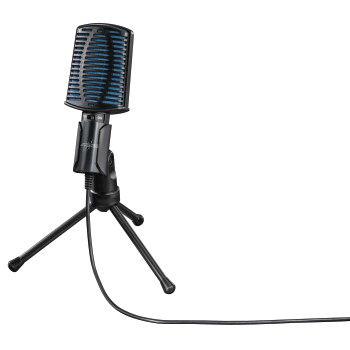Микрофон HAMA URage MIC xStr3am Essential,  черный [00113791]