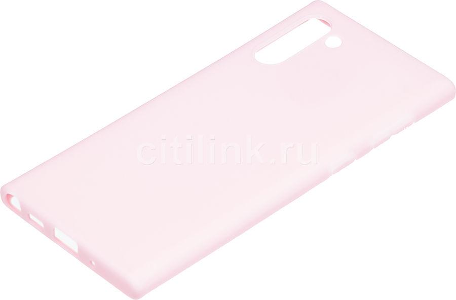 Чехол (клип-кейс) DEPPA Gel Case Color, для Samsung Galaxy Note 10, розовый [87333]