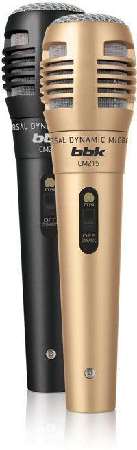 Микрофон BBK CM215,  черный/шампань