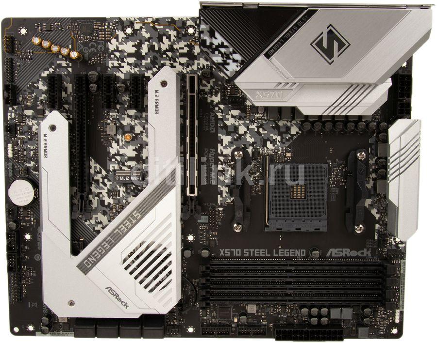 Материнская плата ASROCK X570 STEEL LEGEND, SocketAM4, AMD X570, ATX, Ret