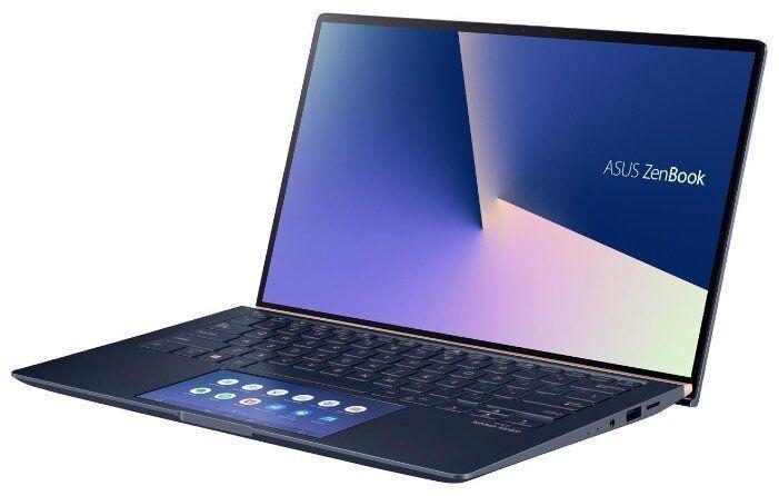 """Ультрабук ASUS Zenbook UX434FLC-A6210T, 14"""",  IPS, Intel  Core i5  10210U 1.6ГГц, 8Гб, 512Гб SSD,  nVidia GeForce  MX250 - 2048 Мб, Windows 10, 90NB0MP1-M04830,  синий"""