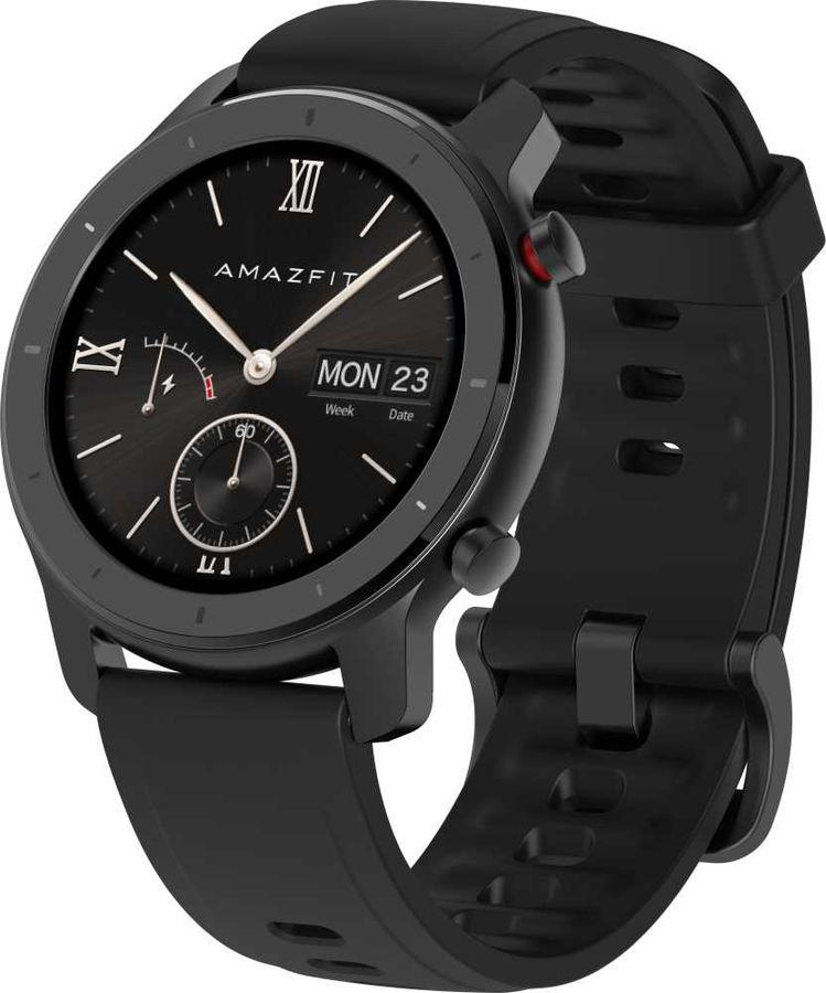 """Смарт-часы AMAZFIT GTR,  42мм,  1.2"""",  черный / черный"""