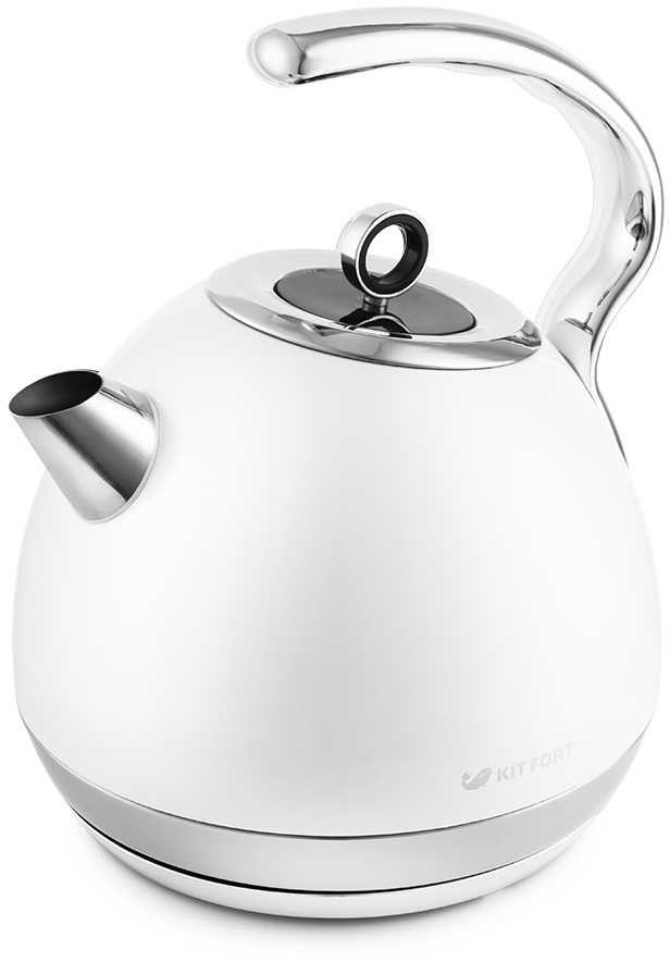 Чайник электрический KITFORT KT-665-3, 1800Вт, белый
