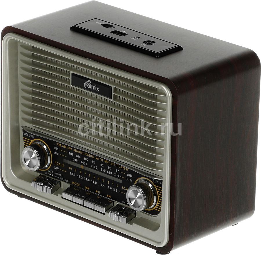 Радиоприемник RITMIX RPR-088 GOLD,  коричневый