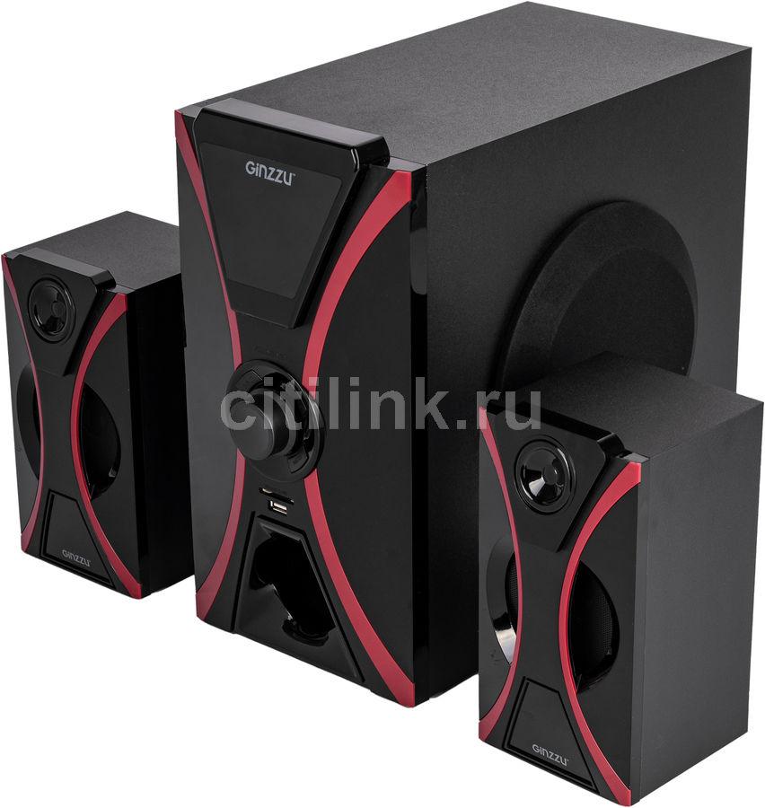 Колонки Bluetooth GINZZU GM-427,  2.1,  черный