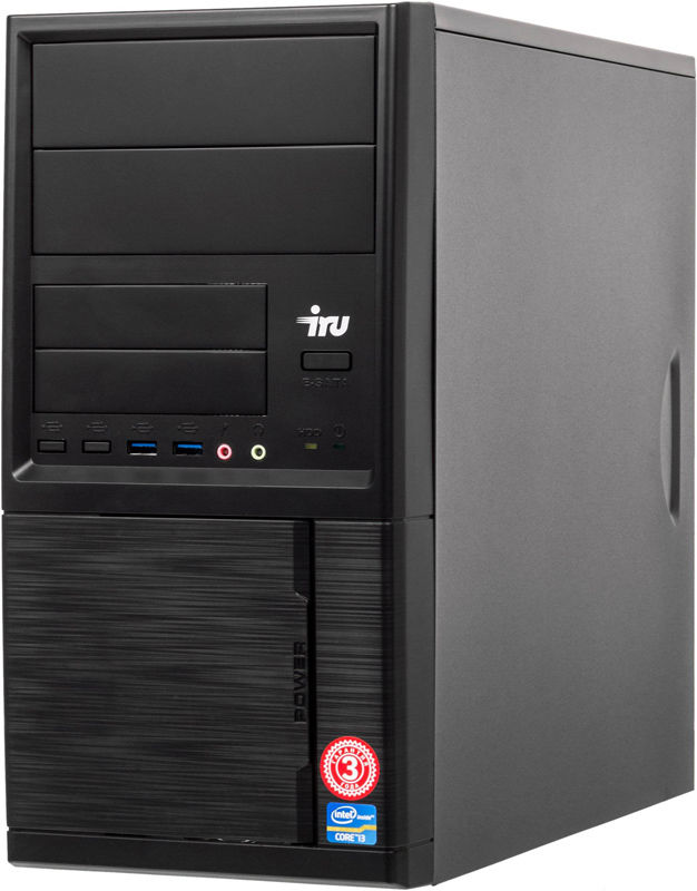 Компьютер  IRU Office 313,  Intel  Core i3  8100,  DDR4 8Гб, 120Гб(SSD),  Intel UHD Graphics 630,  Windows 10 Professional,  черный [1175739]