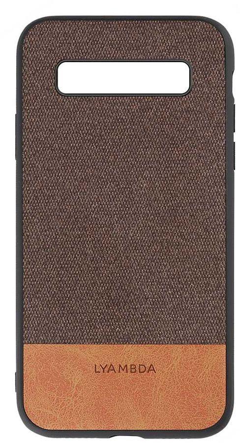 Чехол (клип-кейс)  Lyambda Calypso, для Samsung Galaxy S10, коричневый [la03-cl-s10-br]