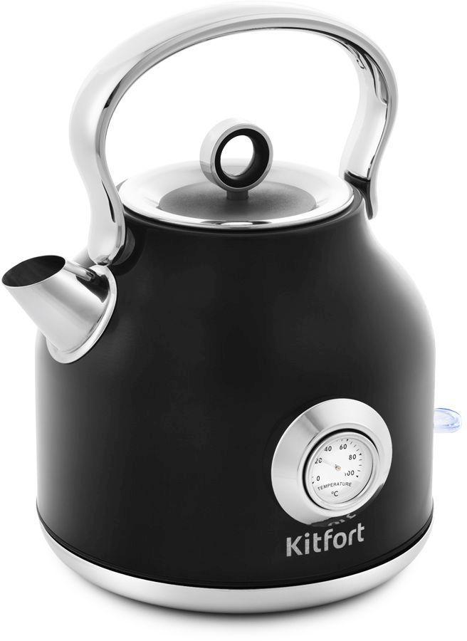 Чайник электрический KITFORT КТ-673-2, 2200Вт, черный