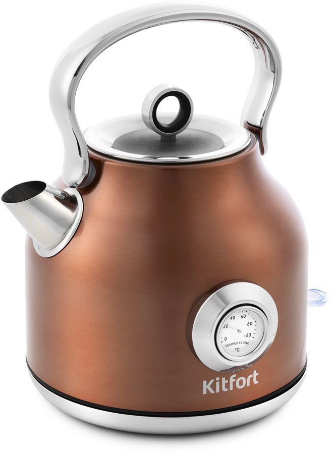 Чайник электрический KITFORT КТ-673-5, 2200Вт, бронзовый