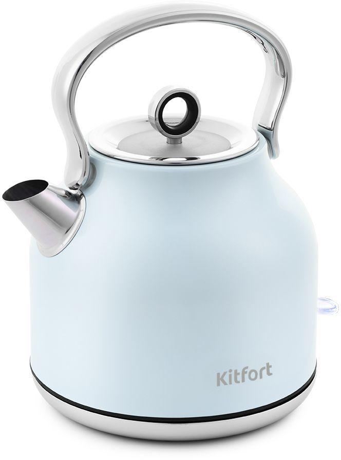 Чайник электрический KITFORT КТ-671-3, 2250Вт, голубой