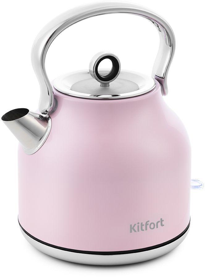 Чайник электрический KITFORT КТ-671-4, 2250Вт, розовый