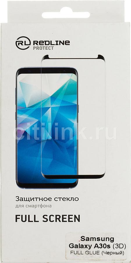 Защитное стекло для экрана REDLINE для Samsung Galaxy A30s,  1 шт, черный [ут000018625]