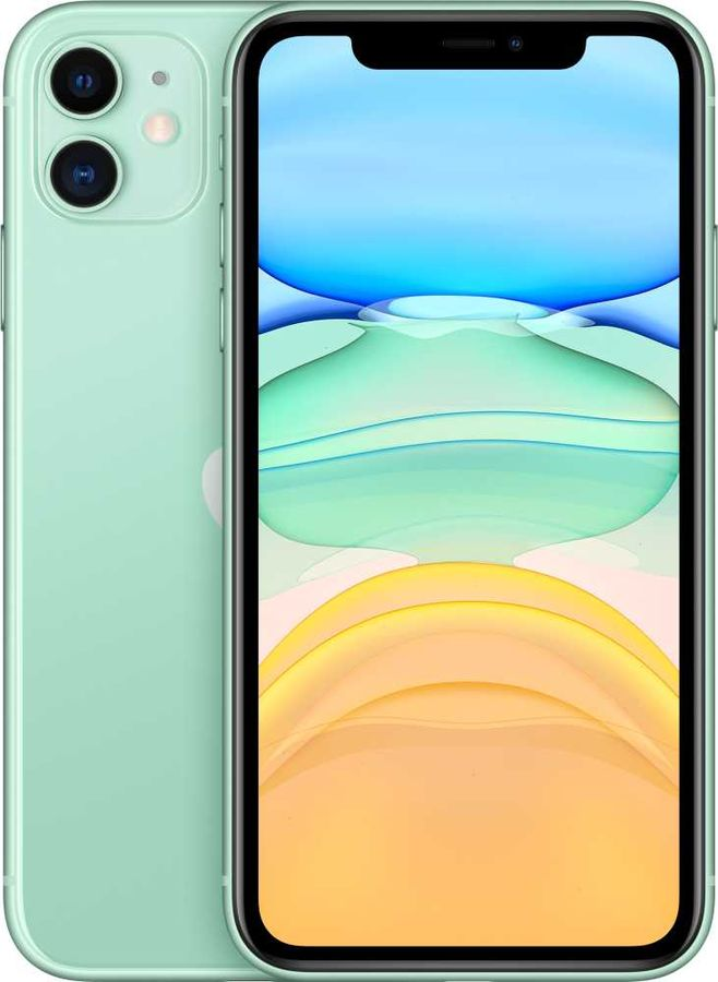 Смартфон APPLE iPhone 11 64Gb,  MWLY2RU/A,  зеленый