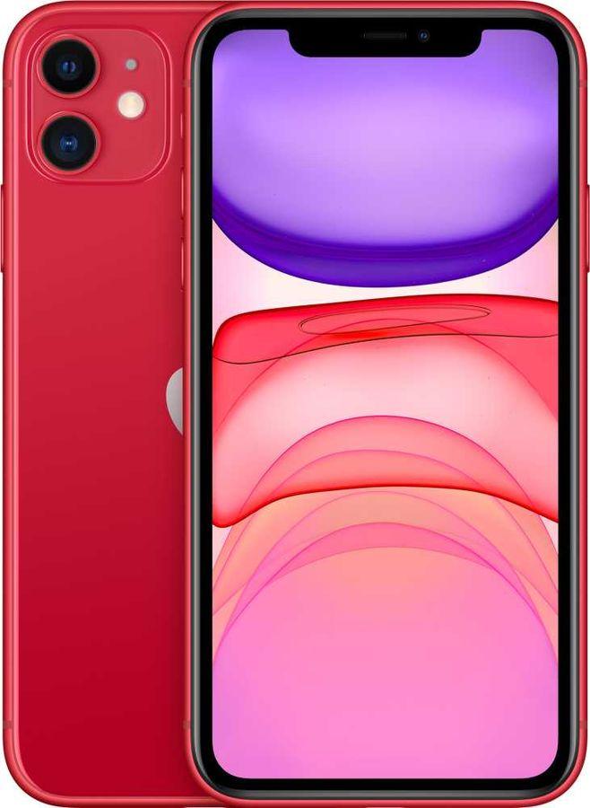 Смартфон APPLE iPhone 11 256Gb,  MWM92RU/A,  красный