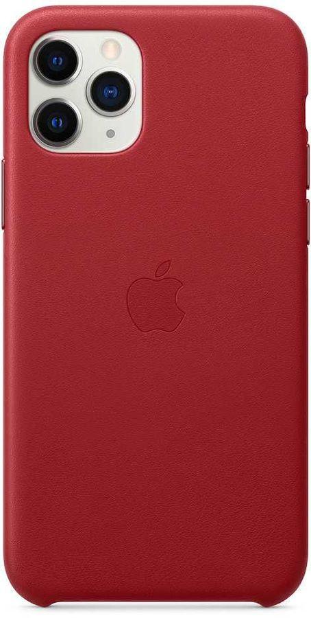 Чехол (клип-кейс) APPLE Leather Case, для Apple iPhone 11 Pro Max, красный [mx0f2zm/a]