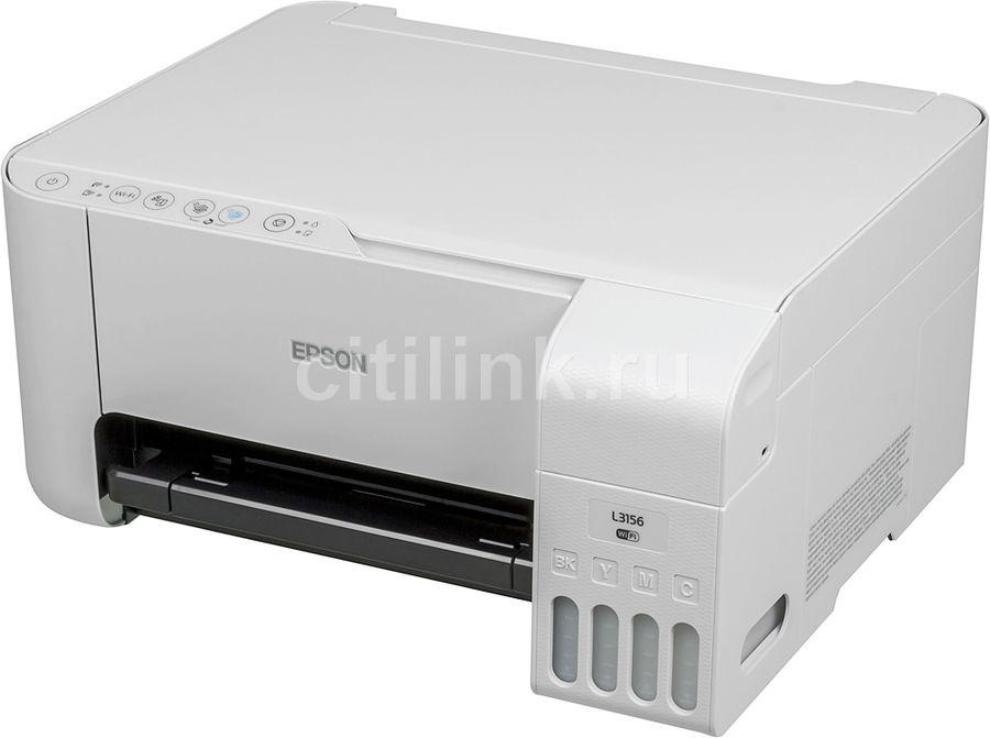 МФУ струйный EPSON L3156, A4, цветной, струйный, белый [c11cg86412]