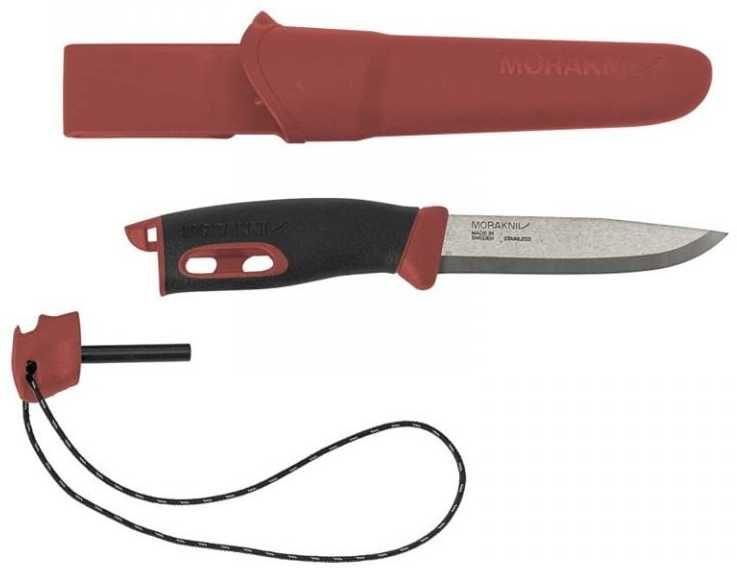 Нож Mora Companion Spark (13571) стальной разделочный лезв.104мм черный/красный