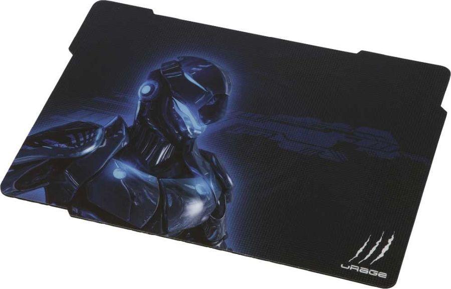 Коврик для мыши HAMA Urage Cyberpad,  черный/синий [00113743]