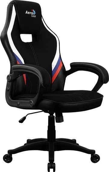 Кресло игровое AEROCOOL AERO 2 Alpha RUS, на колесиках, ткань дышащая, черный