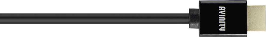 Кабель аудио-видео AVINITY HDMI (m)  -  HDMI (m) ,  1м, GOLD черный [00127167]