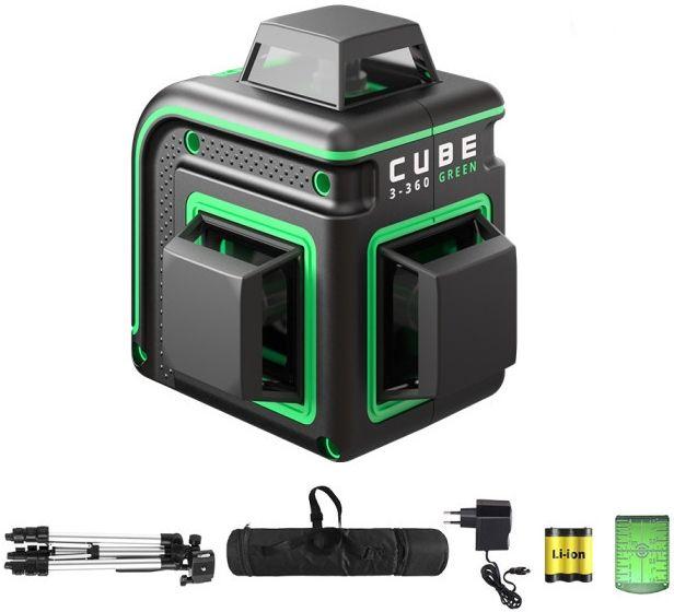 Лазерный нивелир ADA Cube 3-360 GREEN Professional Edition [а00573]