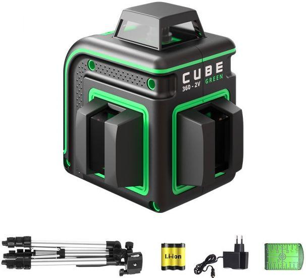 Лазерный нивелир ADA Cube 360-2V GREEN Professional Edition [а00571]