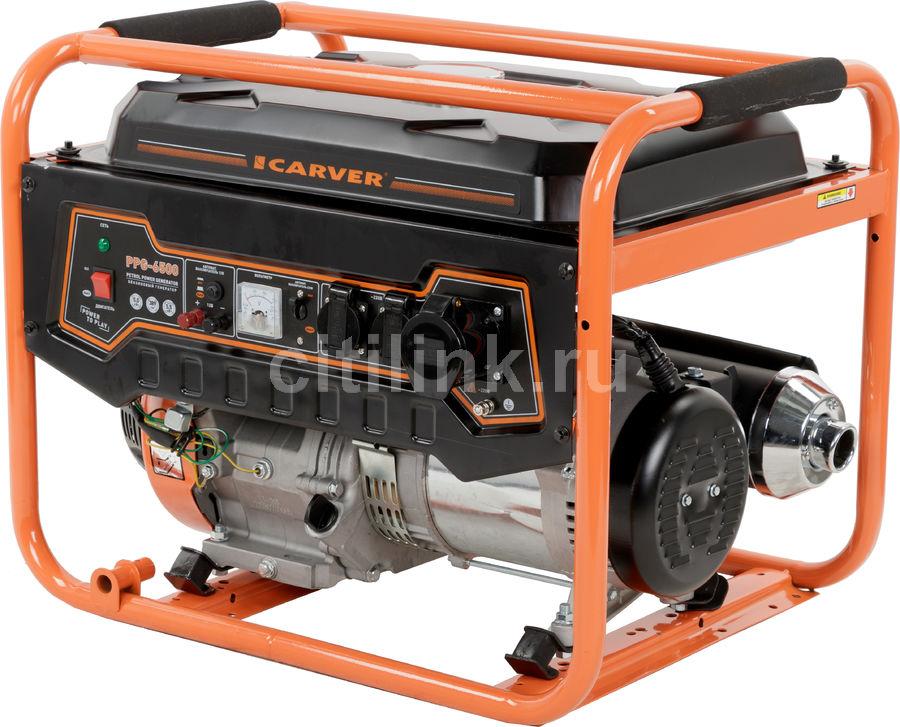 Бензиновый генератор CARVER PPG- 6500,  220/12 В,  5.5кВт [01.020.00018]