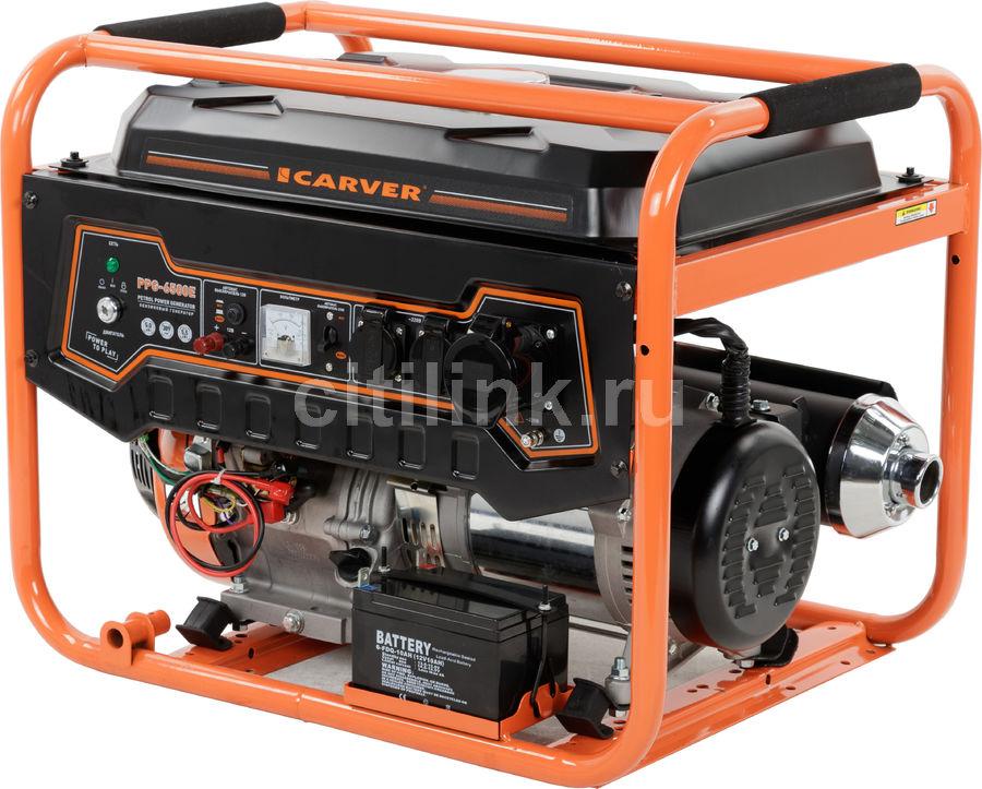 Бензиновый генератор CARVER PPG- 6500Е,  220/12 В,  9.6кВт [01.020.00005]