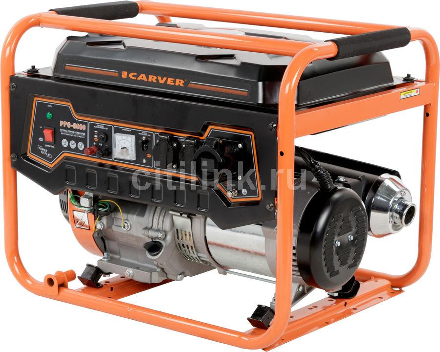 Бензиновый генератор CARVER PPG- 8000,  220/12 В,  11.1кВт [01.020.00020]