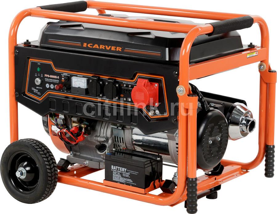 Бензиновый генератор CARVER PPG- 8000E-3,  380 В,  11.1кВт [01.020.00013]