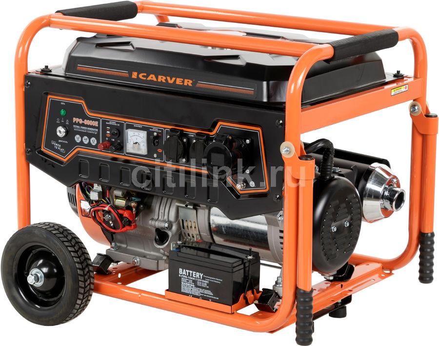 Бензиновый генератор CARVER PPG- 8000Е,  220/12 В,  11.1кВт [01.020.00006]