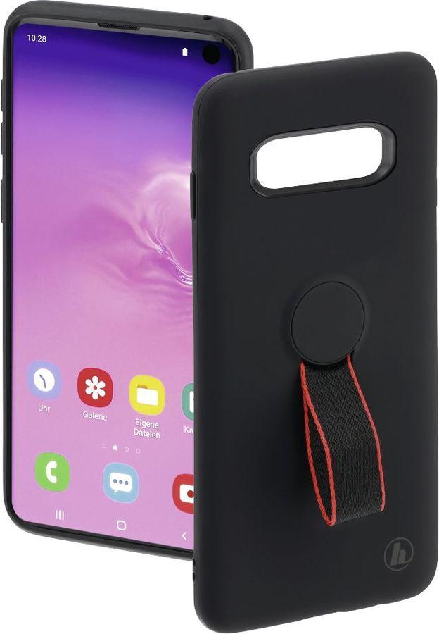 Чехол (клип-кейс) HAMA Red Sensation No. 2, для Samsung Galaxy S10, черный/красный [00186169]