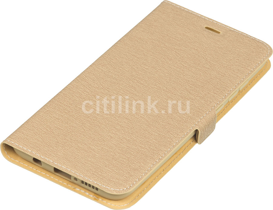 Чехол (флип-кейс) DF xiFlip-50, для Xiaomi Redmi Note 8 Pro, золотистый [df xiflip-50 (gold)]
