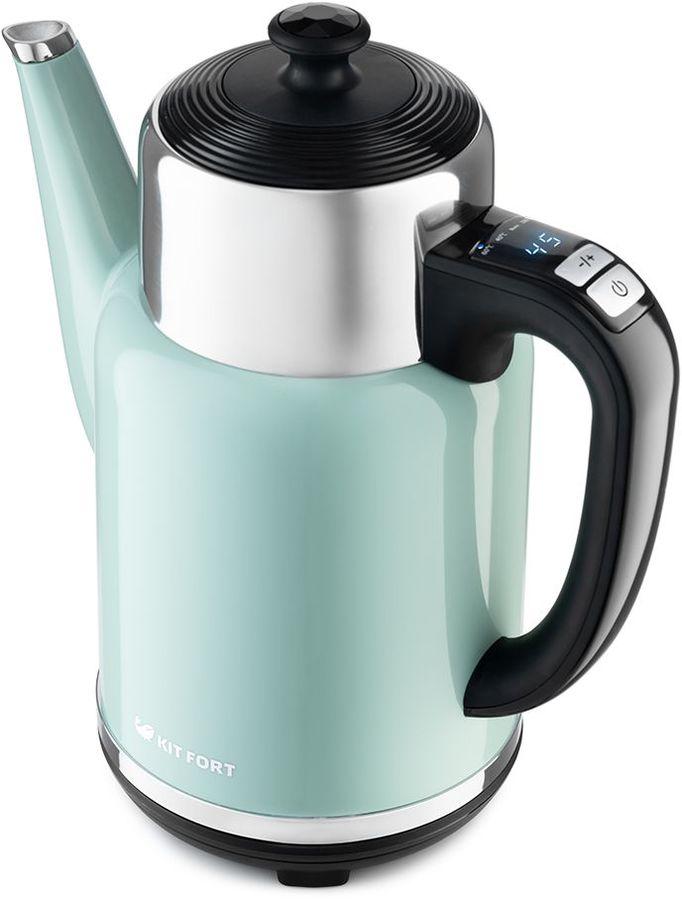Чайник электрический KITFORT КТ-668-3, 1785Вт, зеленый