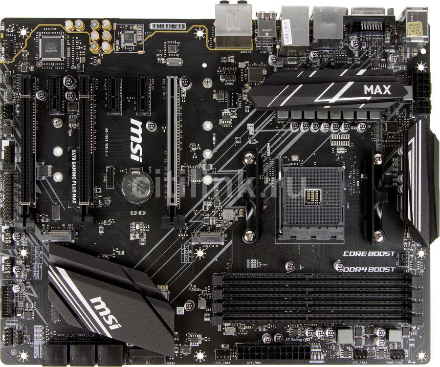 Материнская плата MSI X470 GAMING PLUS MAX, SocketAM4, AMD X470, ATX, Ret