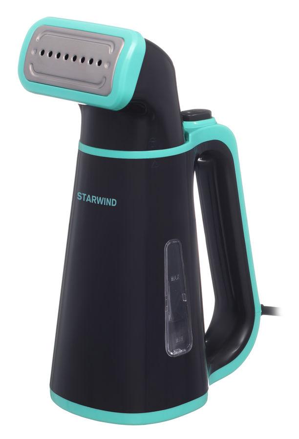 Отпариватель ручной STARWIND STG1850,  черный  / бирюзовый