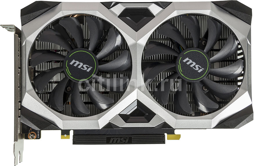 Видеокарта MSI nVidia  GeForce GTX 1660TI ,  GTX 1660 Ti VENTUS XS 6G OCV1,  6Гб, GDDR6, OC,  Ret